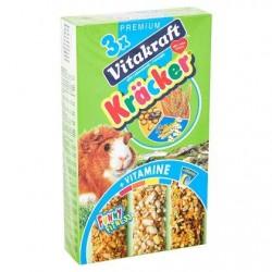 Vitakraft 3 x Crackers miel, popcorn, germes de blé pour cochon d'Inde 160 g