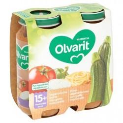 Olvarit Pâtes Végétariennes Courgette Mozzarella 15+ Mois 2 x 250 g