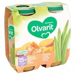 Olvarit Haricots Verts Poulet Curry 15+ Mois 2 x 250 g