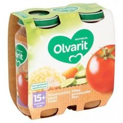 Olvarit Pâtes Provençales Thon 15+ Mois 2 x 250 g