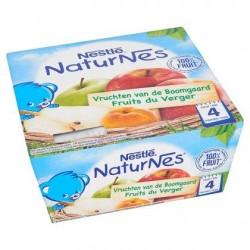 Nestlé® NaturNes® Fruits du Verger Bébé 4 Mois 4 x 100 g