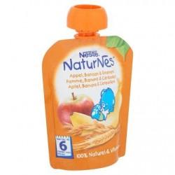 Nestlé® NaturNes® Gourde Pomme Banane Céréales Bébé 6 Mois 90 g
