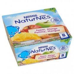 Nestlé® NaturNes® Pomme Mangue Bébé 8 Mois 4 x 100 g