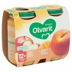 Olvarit Pomme Pêche Mangue 12+ Mois 2 x 200 g