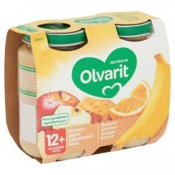 Olvarit Banane Pomme Orange Biscuit 12+ Mois 2 x 200 g