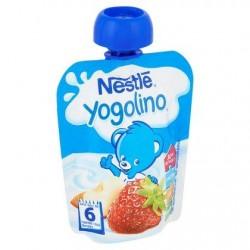 Nestlé® Yogolino® gourde Pomme fraise Bébé dès 6 mois 90 g