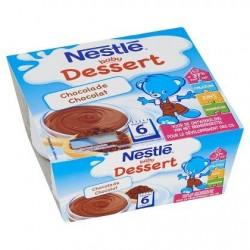 Nestlé® Baby Dessert Chocolat Bébé 6 Mois 4 x 100 g