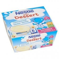 Nestlé® Baby Dessert Vanille Bébé 6 Mois 4 x 100 g