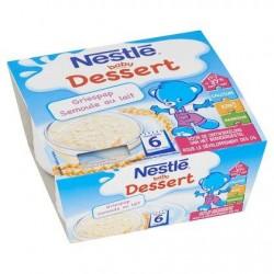 Nestlé® Baby Dessert Semoule au Lait Bébé 6 Mois 4 x 100 g