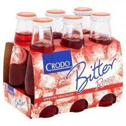 Crodo Bitter Rosso Aperitivo Analcolico 6 x 10 cl