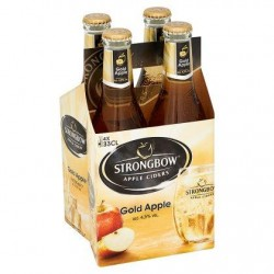 Strongbow Apple Ciders Gold Apple Bouteilles 4 x 330 ml