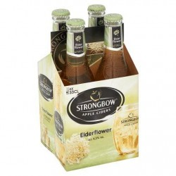 Strongbow Apple Ciders Elderflower Bouteilles 4 x 330 ml