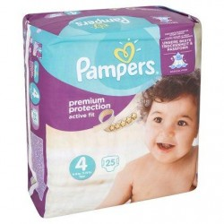 Pampers Active Fit Taille 4 (Maxi) 8-16 kg 25 Langes