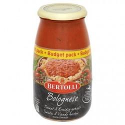 Bertolli Bolognese Sauce pour Pâtes Tomates & Viande Hachée Assaisonnée Budget Pack 700 g