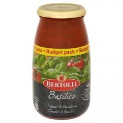 Bertolli Basilico Sauce pour Pâtes Tomates & Basilic Budget Pack 700 g