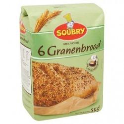 Soubry Mélange pour Pain 6 Céréales 5 kg