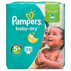 PAMPERS Baby-Dry 5+ 13-25 kg  25 langes