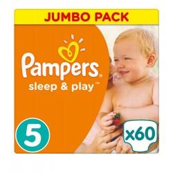 Pampers Sleep & Play T5, 60 Langes, 11-23kg