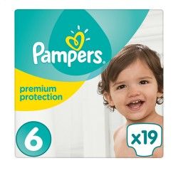 Pampers Premium Protection Taille 6 (Extra Large) 15+ kg, 19 Langes