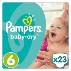 Pampers Baby-Dry T6, 23 Langes, Jusqu'à 12h
