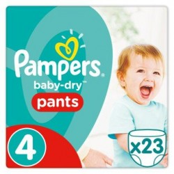 Pampers Baby-Dry Pants Taille 4, 8-14 kg, 23 Couches-culottes