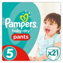 Pampers Baby-Dry Pants Taille 5, 11-18 kg, 21 Couches-culottes