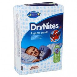 DryNites Pyjama Pants Boy 4-7 Ans 17-30 kg 16 Pièces