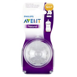 PHILIPS AVENT tétines silicone Natural Fast  2pcs