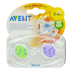 PHILIPS AVENT sucettes silicone 0-6M  2 pièces