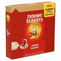 Douwe Egberts Lungo 6 Dessert Maxi Pack 20 Aluminium Capsules 104 g