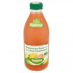 Materne 100% Pur Jus de Fruits Pamplemousses Roses Pressés 1 L