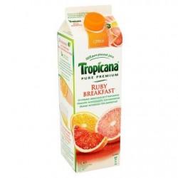 TROPICANA Ruby Breakfast jus pressé  1L *Multifruit *Pur jus *100 % de fruits *Avec pulpe