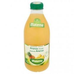 MATERNE ananas fraîchement pressés  1L *Jus d'ananas *Pur jus *100 % de fruits *Sans pulpe