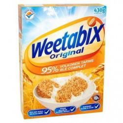 WEETABIX céréales au blé complet  430g *Biscuits au blé complet
