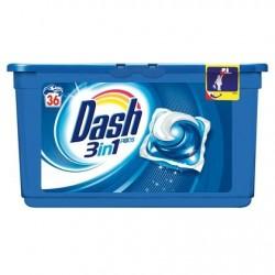 DASH 3en1 pods  36 tabs *36 doses *Superconcentré *Universel, pas laine, soie, ni lavage à la main