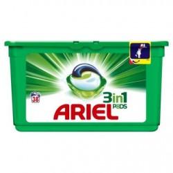 ARIEL pods regular 3 en 1  38 doses *38 doses *Superconcentré *Lessive universelle