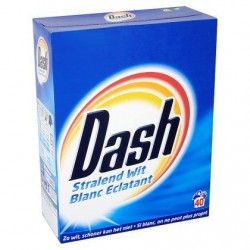 DASH Blanc Eclat. lessive pdre  2,6kg 40d *40 doses *Concentré, dose moyenne: 65 g *Pour le blanc