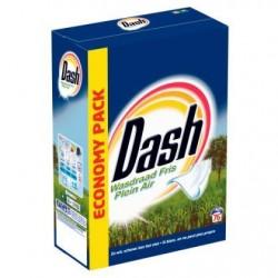 DASH Plein Air lessive poudre  4,9kg 76d *76 doses *Concentré, dose moyenne: 65 g *Pour le blanc *Plein air
