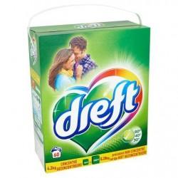 DREFT Regular lessive poudre  4,2kg 60 d. *60 doses *Concentré, dose moyenne: 7 g *Linge délicat