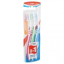 Aquafresh Clean & Flex Hard Brosse à Dents 2+1 Gratuit