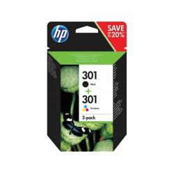 HP 301 Noir - Cyan - Magenta - Jaune (N9J72AE)