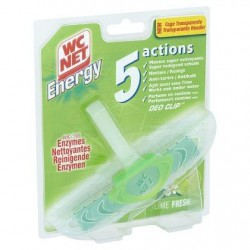 WC NET Energy bloc Lime  38 g *Toilettes *Bloc toilettes *Parfums : Lime Fresh