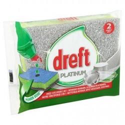DREFT Platinum éponges 3 en 1  2 pièces *Nettoie-tout *Éponge *3 en 1