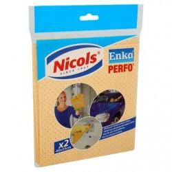 NICOLS Enka peau synth.perf.40x35 cm  2pc *100% peau chamoisée perforée