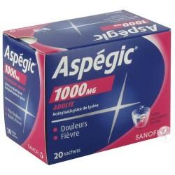Aspegic 1000 Adultes 20 Sachets