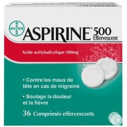 Aspirine 500 Effervescent 36 Comprimés Effervescents