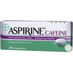 Aspirine Caféine 30 Comprimés