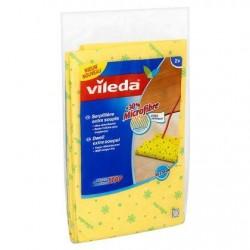 VILEDA serpil. jaune 30% microfibre  2 p. *Sols *Serpillière *30 % microfibres, spécialement pour les sols brillants