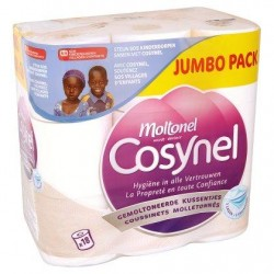 COSYNEL papier-toilette 130f.  18 roul.3C *130 feuilles *3 épaisseurs *100 % cellulose *Certifié PEFC