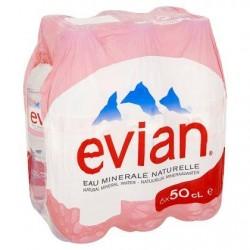 EVIAN eau minérale naturelle  6 x 50 cl
